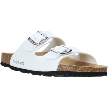 Zapatos Mujer Zuecos (Mules) Grunland CB1035 Blanco