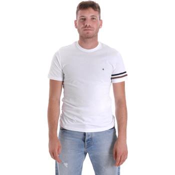 textil Hombre Camisetas manga corta Les Copains 9U9014 Blanco