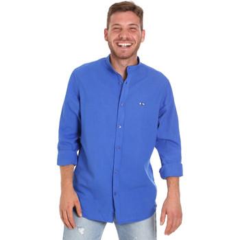 textil Hombre Camisas manga larga Les Copains 9U2722 Azul