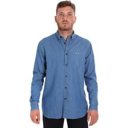 textil Hombre Camisas manga larga Les Copains 9U2361 Azul
