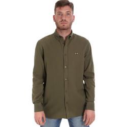 textil Hombre Camisas manga larga Les Copains 9U2371 Verde