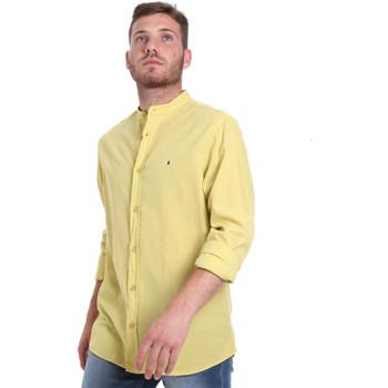 textil Hombre Camisas manga larga Les Copains 9U2722 Amarillo