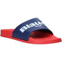 Zapatos Hombre Chanclas Blauer S0BAY02/PUC Rojo