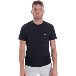 textil Hombre Camisetas manga corta Les Copains 9U9011 Azul