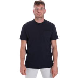 textil Hombre Camisetas manga corta Les Copains 9U9010 Azul