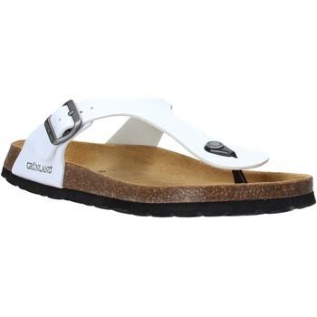 Zapatos Hombre Chanclas Grunland CB3014 Blanco