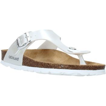 Zapatos Niños Chanclas Grunland CB2419 Blanco