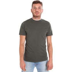 textil Hombre Camisetas manga corta Les Copains 9U9013 Verde