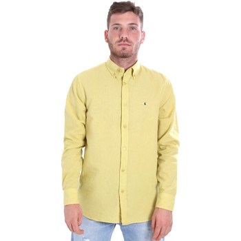 textil Hombre Camisas manga larga Les Copains 9U2371 Amarillo