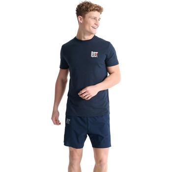 textil Hombre Camisetas manga corta Superdry MS300015A Azul