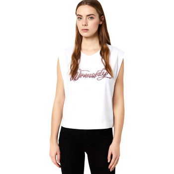 textil Mujer Camisetas manga corta Liu Jo FA0113 J5940 Blanco