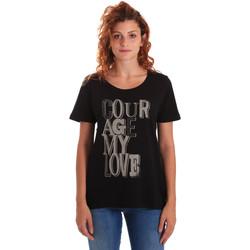 textil Mujer Camisetas manga corta Key Up 5Z19S 0001 Negro