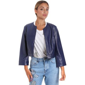 textil Mujer Chaquetas de cuero / Polipiel Fracomina FR20SM708 Azul