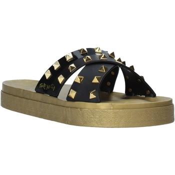 Zapatos Mujer Zuecos (Mules) Sensi 4390/PY Negro