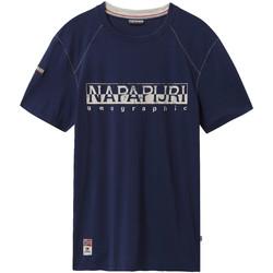 textil Hombre Camisetas manga corta Napapijri NP0A4E3B Azul