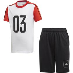 textil Niños Conjuntos chándal adidas Originals FL2810 Blanco
