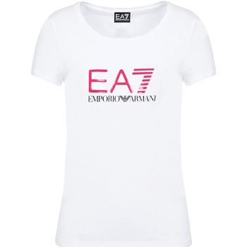 textil Mujer Camisetas manga corta Ea7 Emporio Armani 8NTT63 TJ12Z Blanco