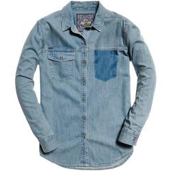 textil Mujer Camisas Superdry G40004IR Azul