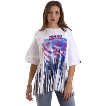 textil Mujer Camisetas manga corta Versace B2HVB7V730384003 Blanco