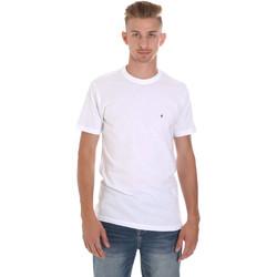 textil Hombre Camisetas manga corta Les Copains 9U9011 Blanco