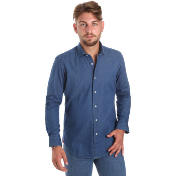 textil Hombre Camisas manga larga Betwoin DENIM78 6635535 Azul