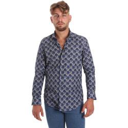 textil Hombre Camisas manga larga Betwoin DB111 Azul