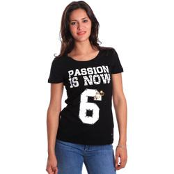 textil Mujer Camisetas manga corta Gaudi 811FD64056 Negro