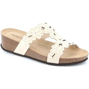 Zapatos Mujer Zuecos (Mules) Grunland CB2491 Blanco