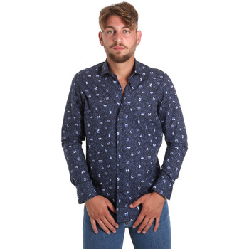 textil Hombre Camisas manga larga Betwoin D092 6635535 Azul