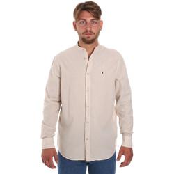textil Hombre Camisas manga larga Les Copains 9U2722 Beige