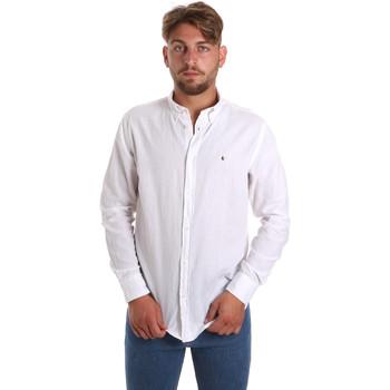 textil Hombre Camisas manga larga Les Copains 9U2371 Blanco