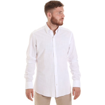 textil Hombre Camisas manga larga Les Copains 20P.689 P700SL Blanco