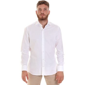 textil Hombre Camisas manga larga Les Copains 000.076 P3196 Blanco