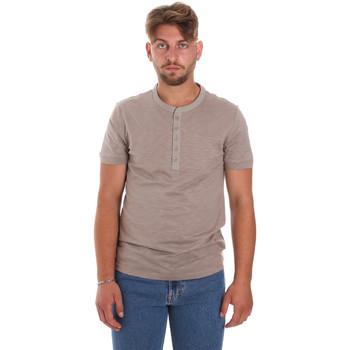 textil Hombre Camisetas manga corta Antony Morato MMKS01725 FA100139 Marrón