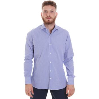 textil Hombre Camisas manga larga Les Copains 20P.621 P3196SL Azul