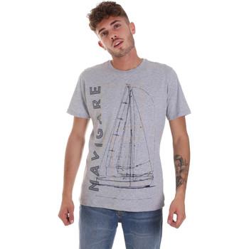 textil Hombre Camisetas manga corta Navigare NV31109 Gris