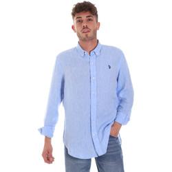 textil Hombre Camisas manga larga U.S Polo Assn. 58574 50816 Azul