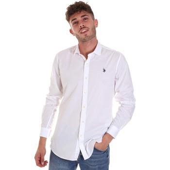 textil Hombre Camisas manga larga U.S Polo Assn. 58835 50655 Blanco