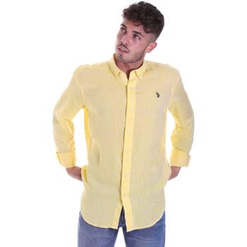 textil Hombre Camisas manga larga U.S Polo Assn. 58574 50816 Amarillo
