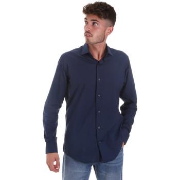 textil Hombre Camisas manga larga Les Copains 18P.884 P3196SL Azul