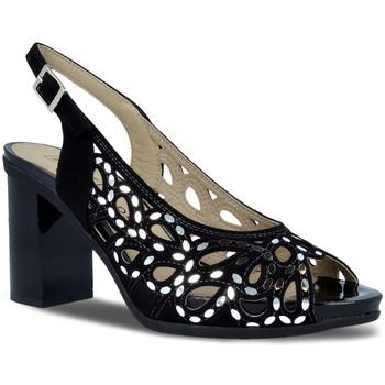 Zapatos Mujer Sandalias Pitillos 5581 Negro