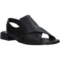Zapatos Mujer Sandalias Mally 5763R Negro