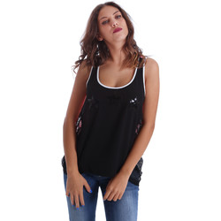 textil Mujer Camisetas sin mangas Fornarina BE17T523CA05E9 Negro