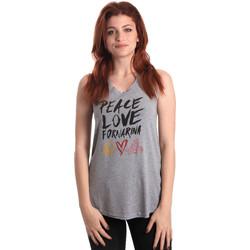 textil Mujer Camisetas sin mangas Fornarina BERT476JF7206 Gris