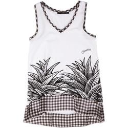 textil Mujer Camisetas sin mangas Fornarina BERT484JF7409 Blanco