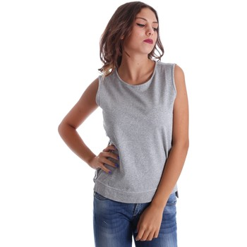 textil Mujer Camisetas sin mangas Fornarina SE17T524F42990 Gris
