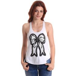 textil Mujer Camisetas sin mangas Fornarina SE17T517JG0709 Blanco