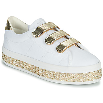 Zapatos Mujer Zapatillas bajas No Name MALIBU STRAPS Blanco / Oro
