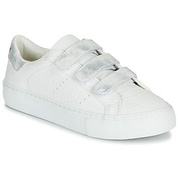 Zapatos Mujer Zapatillas bajas No Name ARCADE STRAPS Blanco / Plateado