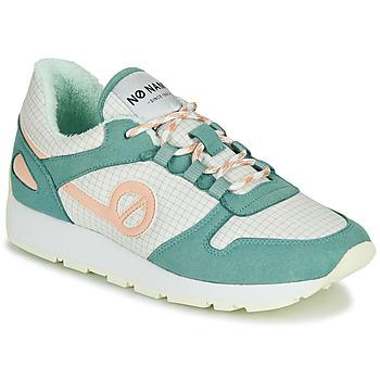 Zapatos Mujer Zapatillas bajas No Name CITY OPEN Verde / Rosa